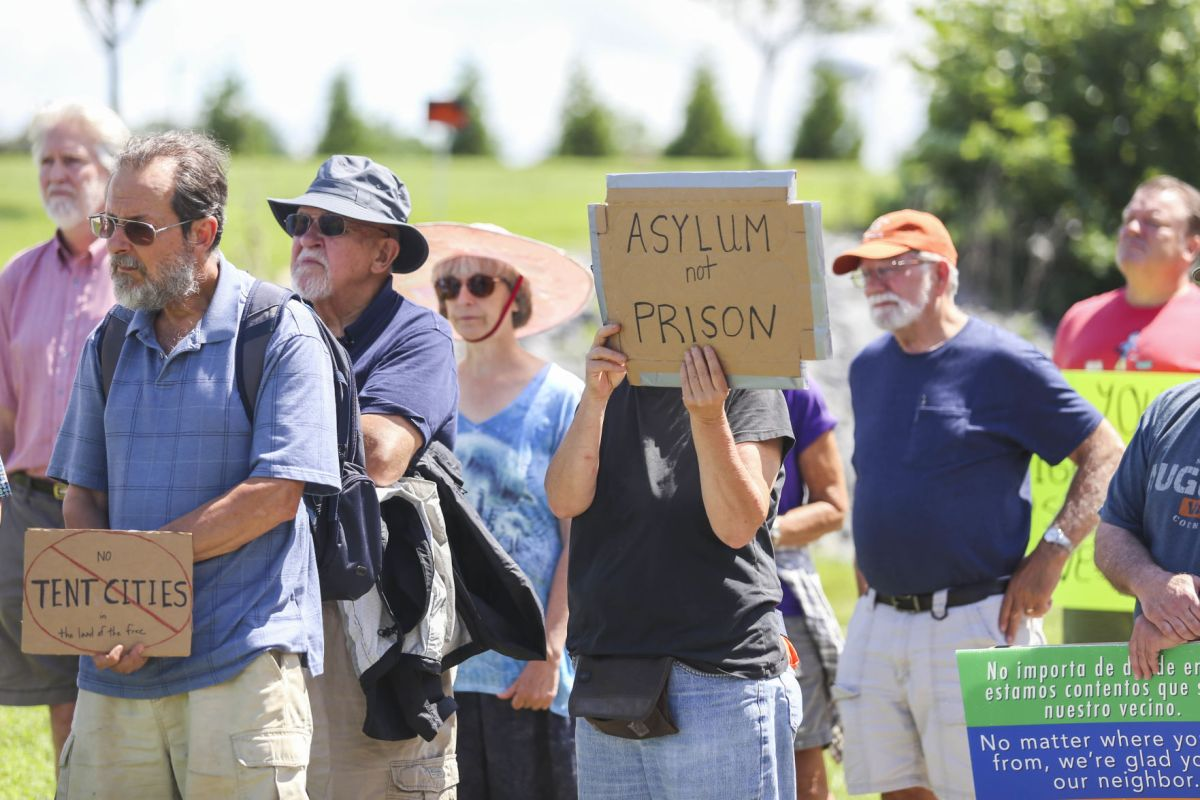 Demonstrators gather at Verona juvenile center to protest ...
