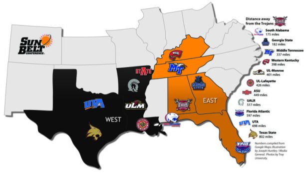 Image result for sun belt conference teams