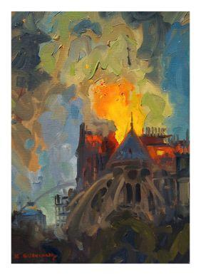 Abingdon artist paints burning Notre Dame, will donate part of sales to  restoration efforts | Latest Headlines | heraldcourier.com