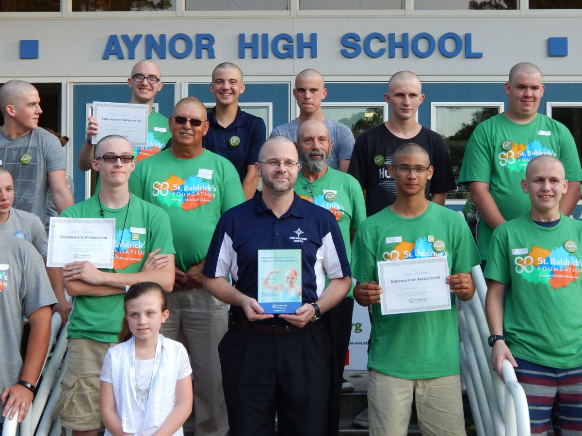 Aynor High School students participate in head-shaving to ...