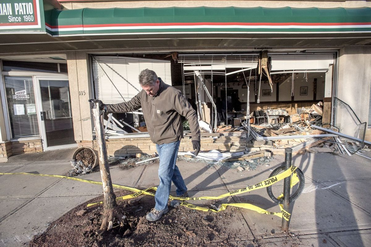 reopen friday after car crashed into