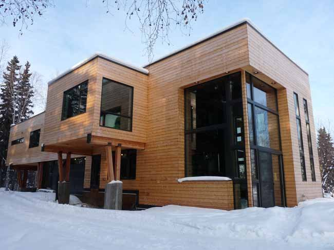 Modern Fairbanks: Architecture not limited to log cabins ... on Modern House Siding  id=43596