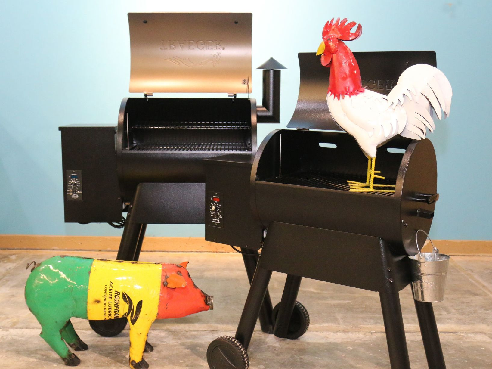 a seasonal pop up store with a grill or