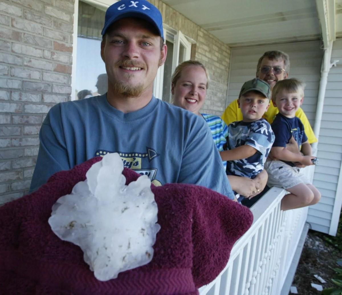 June 22, 2003: Super-sized hailstone