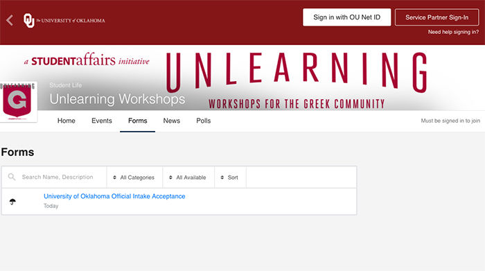 OU workshops to educate greek students on social issues ...