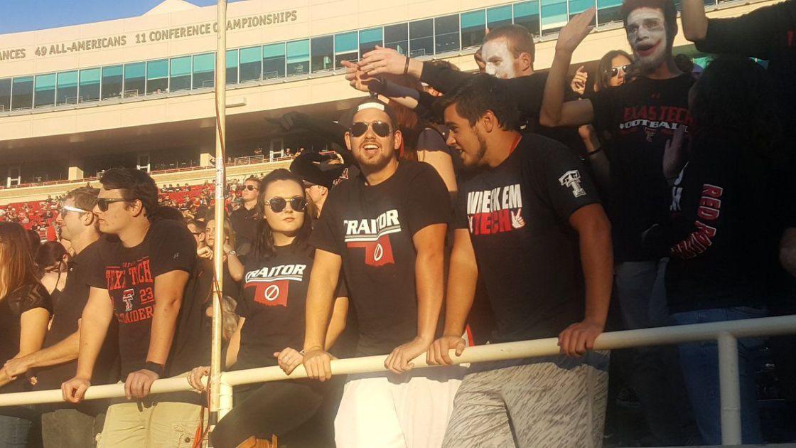 Oklahoma Football Texas Tech Fans Wear Traitor Shirts