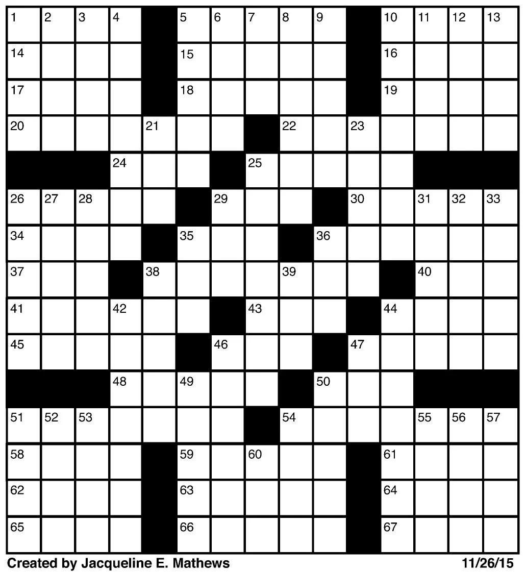 Crossword November 26