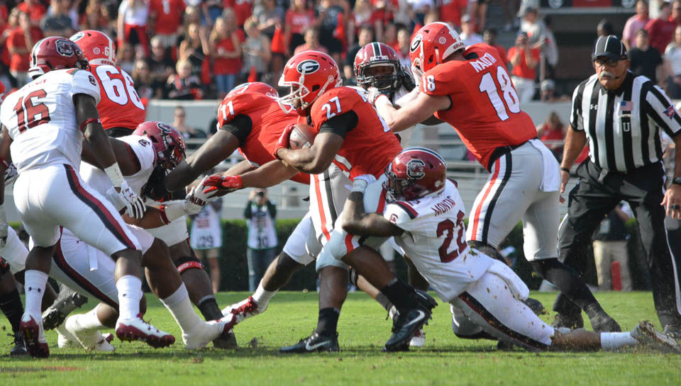 Against Auburn Nick Chubb Will Likely Pass Bo Jackson In