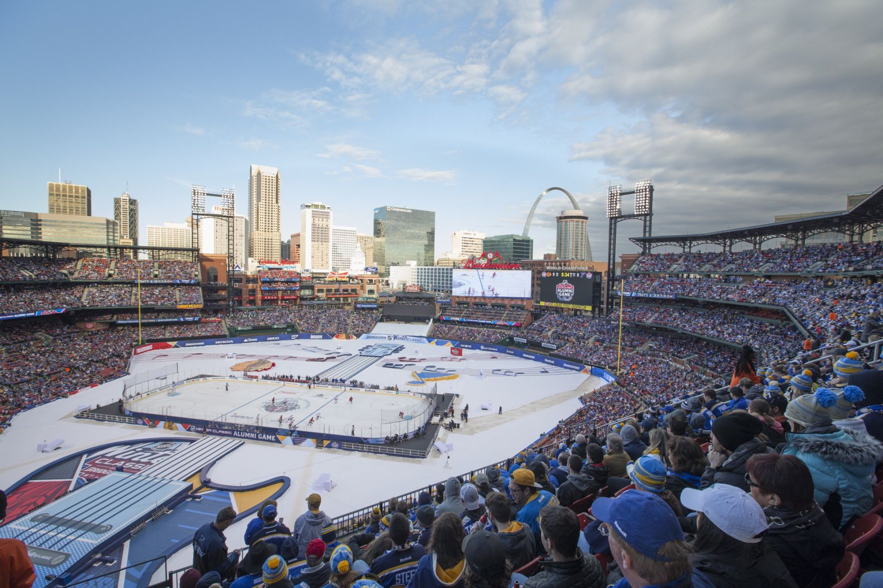 Image result for photos of the winter classic in St. Louis