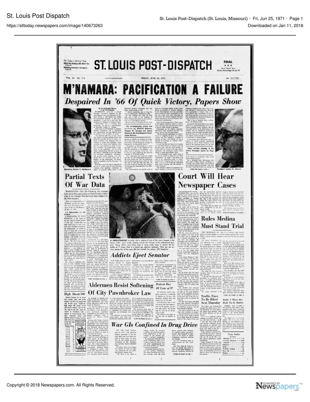 Post-Dispatch was among first newspapers to publish ...