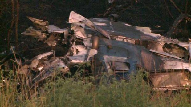 Debris from small plane crash