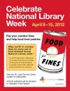 Pay your library fines by donating canned goods