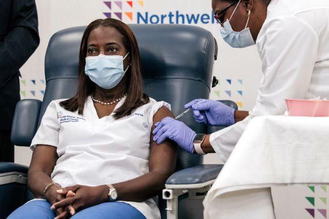 FILE - NY Sandra Lindsay, coronavirus vaccine 12-14-2020