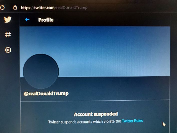 FILE - US Donald Trump Twitter page 1-8-2021