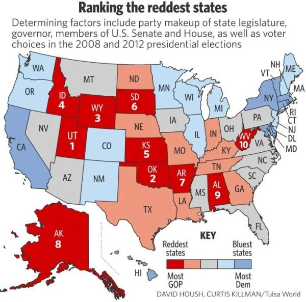 Oklahoma proud to be 'red state' | Government & Politics ...