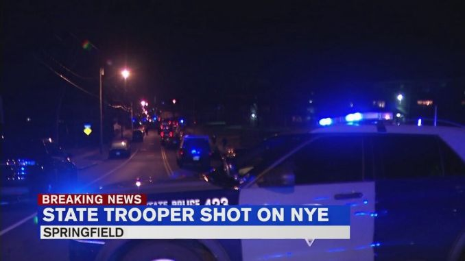 Suspect arrested after state trooper shot in Springfield