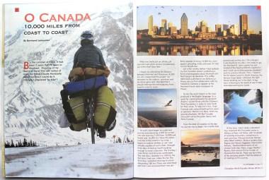Article dans le magazine Canadian World Traveller