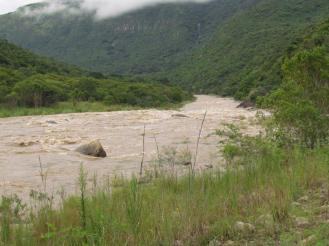 Mkomazi River in Flood
