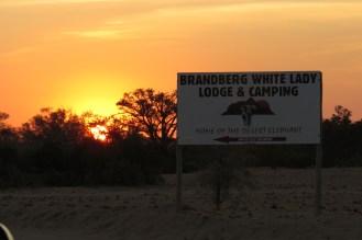 Brandberg White Lady lodge sign