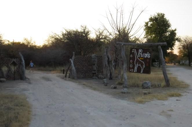 Roy's Camp entrance