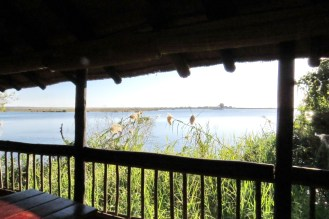 Sundowner Deck overlooking the Chobe NP floodplain