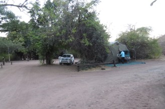Campsite 19 - not quite wide enough to fit in comfortably.