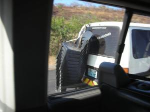 All taxis were similarly loaded as we entered Mozambique.
