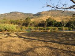 View from the picnic site across the river to Umgeni Valley NR.