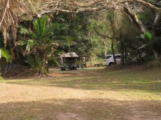 View towards last campsite