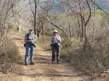 Birders on track - Jane and Sally