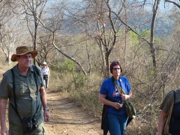 Birders on track - John and Cheryl