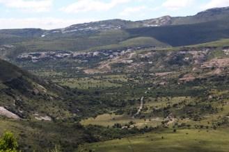 Bouldered hillsides