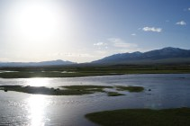 In the middle of the steppe - water.