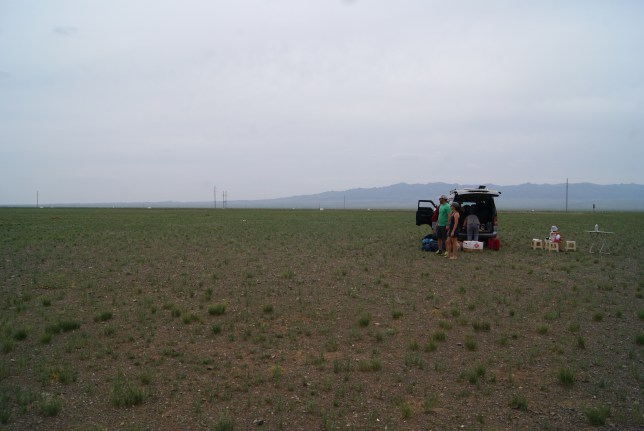 Picnic in the middle of nowhere.
