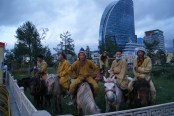 Watch out townsfolk, the people of the steppe have arrived.