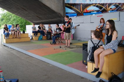 Music show by the river.