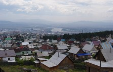 Ulan-Ude as seen from the buddhist temple Rinpoche Bagsha Datsan.