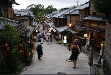 One of the pretty streets in Higashiyama.