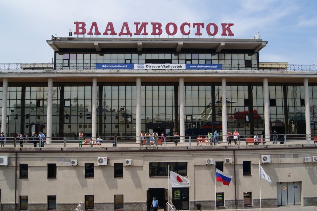 Vladivostok ferry terminal.