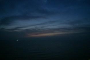 Sunset over North Korea.