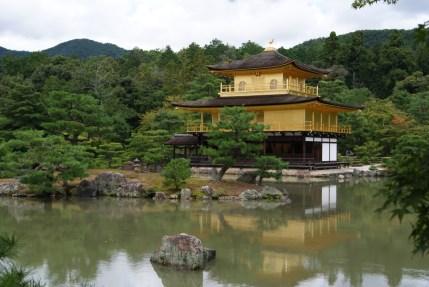 Kinkaku-ji, the golden pavillion. Very beautiful and very popular.