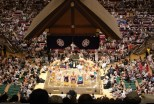 Display of power at the sumo competitions.