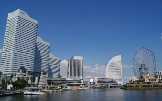 """A sunny day at Minato Mirai, which means """"port future."""" I can see why."""