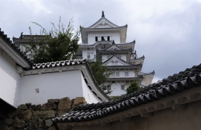 Himeji Castle up close. Or, where the queue started.