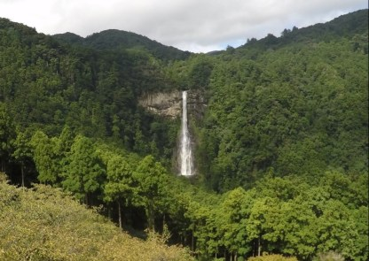 Nachi-no-taki, Japan's highest waterfall by one of the Kumano shrines.