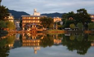 Sarusawa-ike. A quiet pond in Nara's city center.
