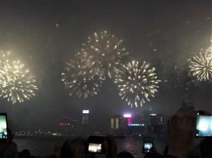 Fireworks over Victoria Strait.