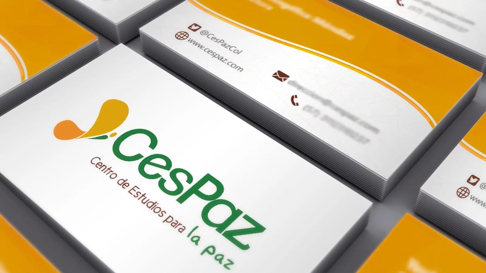 Tarjetas de presentacion CesPaz