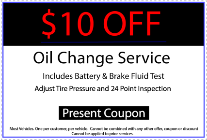 Oil Change $10 off coupon