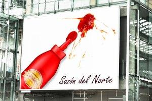 BluCactus Panoramico de una salsa de ProSaJo que sale